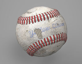Game Ready Worn Baseball Ball 3D asset