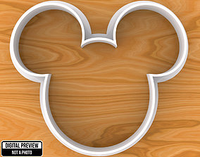Mickey Mouse Cookie Cutter 3D printable model baking