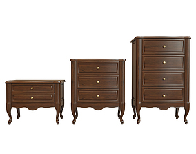 table Chest Of Drawers A 03 3D