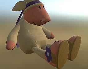 Toy Sheep Pose PBR 3D asset