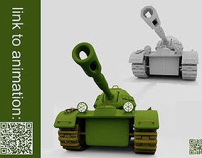 3D asset Tank Cartoon