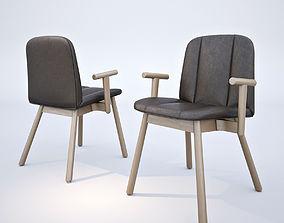 3D model Billiani Hippy Wood armchir