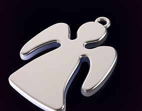 Guardian Angel Pendant or Keychain 3D print model