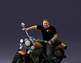 Man on motorcycle 0142 3D Print Ready