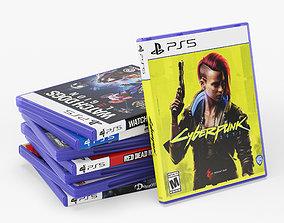 DVD Case disks for PS5 3D model