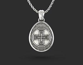 3D printable model Easter egg Pisanka pendant with Cross