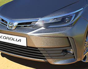 Toyota Corolla 2017 3D asset