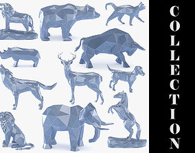 11 Low Poly Animals Pack - 3D Printable