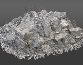 3D Realistic Demolition Element - Concrete Pile