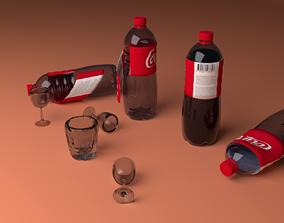 3D asset coke bottle and class