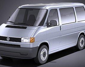 Volkswagen T4 Multivan Eurovan 1990-2003 VRAY 3D model
