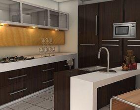 fbx 3D model modular kitchen