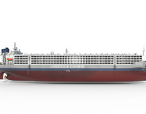 Livestock Carrier Grey hquality 3D