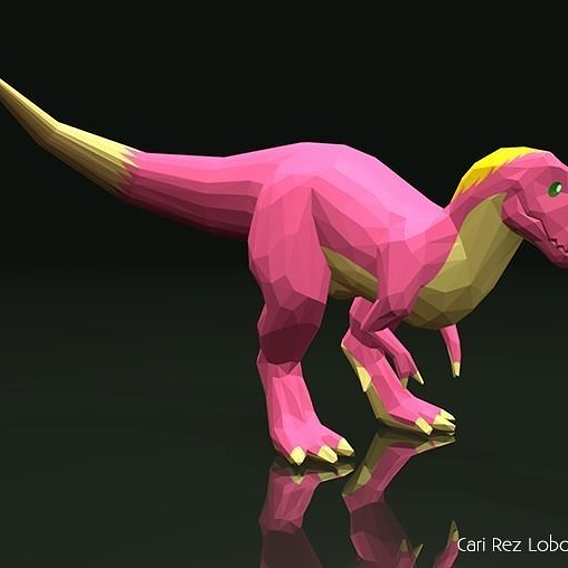Low-poly T. rex Character