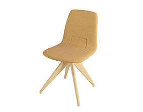 3D model Chair TORSO 837-I POTOCCO Ornage-brown flax and 1