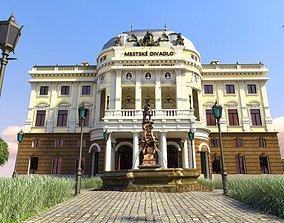 Opera house full scene - Bratislava Slovakia 3D model