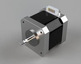 NEMA 17 stepper motor 3D model