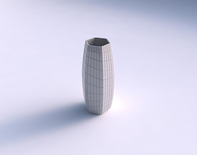 Vase hexagon with distorted grid plates 3D print model