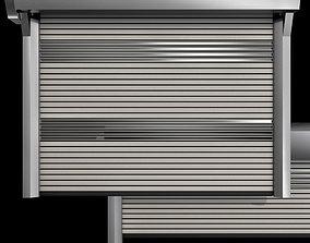 Metal industrial high speed door with horizontal 3D