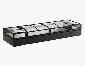 3D model Supermarket Freezer Tecto 4