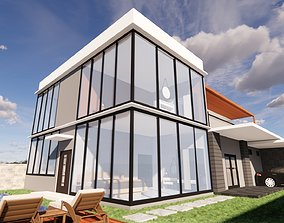 Luxury House with Private Pool 3D