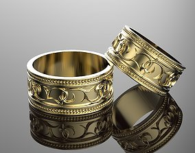 3D print model Wedding Rings for man and woman