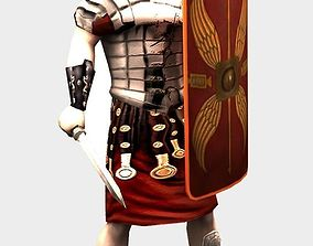 Roman Soldier 3D model animated