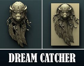Bison dream catcher 3d stl model for cnc