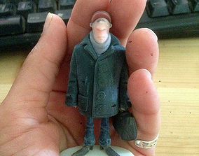 3D print model Man holding a suitcase