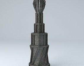 3D model Sci Fi Shapes Dystopia Building 4