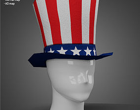 Uncle Sam - Low Poly model game-ready