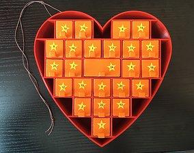 3D printable model Advent Calendar Heartshape