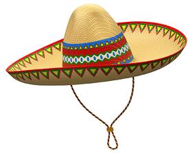 colorful 3D model Sombrero