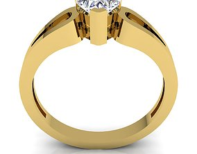 disjunct Solitaire Diomand Ring 3d Model print