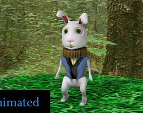 The White Rabbit 3D asset