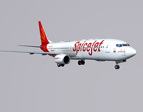 3D model Boieng 737-800 Spice Jet