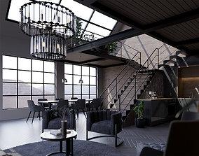 Loft Interior- Modern Apartment 3D model