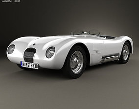 3D model Jaguar C-Type 1951