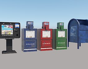 3D asset Newspaper Boxes Post box