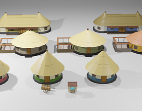 low-poly Rural Village - Low poly Assets Low-Poly 3D