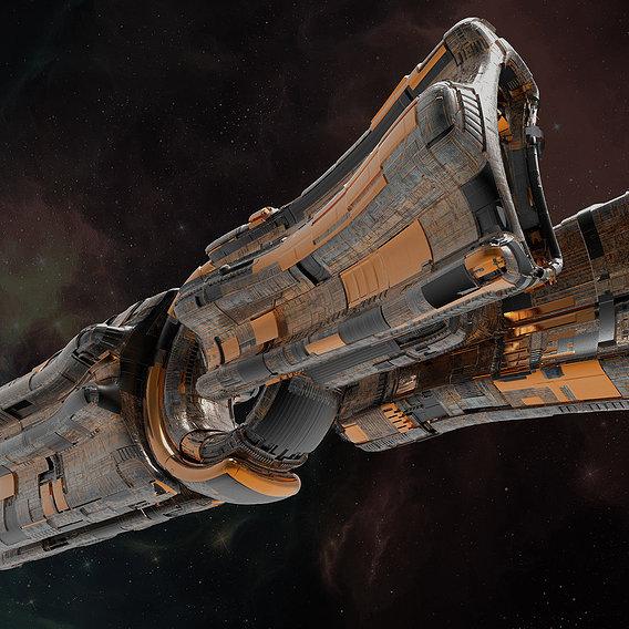 Alien starship