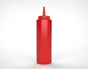 3D simple Ketchup bottle