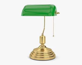 3D model green Banker Lamp