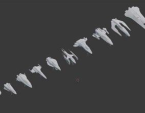 Spaceships Pack 3D model