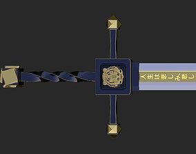 3D asset Lone Tiger Sword