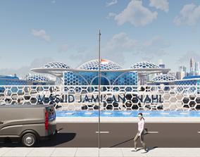 Futuristic Mosque 3D printable model