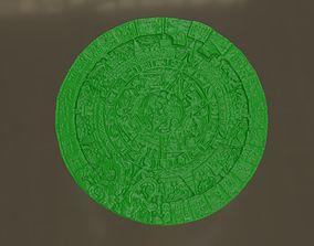 Aztec sun calendar 3D print model