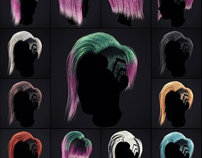 3D model Cyberpunk Hairstyle 1