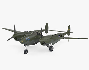 Lockheed P-38 Lightning 3D model
