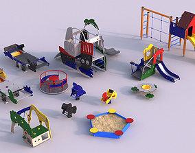 3D model Modern playground 5